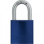 "08301, Padlock Aluminum, B KD Blue, 1"", Shackle"