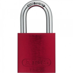 "08304, Padlock Aluminum, B KD Red, 1"", Shackle"