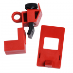 120/277V Red Polypropylene Clamp-On Breaker Lockout