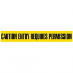 """Caution Entry Requires Permission"" Barricade Tape"