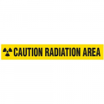 """Caution Radiation"" Area Barricade Tape"