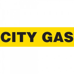 "Plastic Sheet + Pipe Marker ""CITY GAS"""