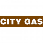 "Brown Plastic Sheet Pipe Marker ""CITY GAS"""