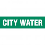 "Plastic Sheet Pipe Marker ""CITY WATER"""