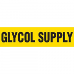 """Glycol Supply"" Plastic Sheet and Pipe Marker"