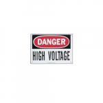 Safety Sign - Danger High Voltage, Fiberglass