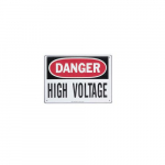 Safety Sign - Danger High Voltage, Spanish
