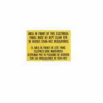 Safety Sign Osha Regulation, Bilingual