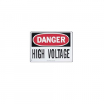 Safety Sign Danger High Voltage Keep Out