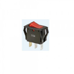 Red Lighted On-Off Rocker Switch, SPST