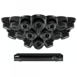 16 Channel Surveillance System w/ 16 Dome Cameras