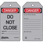 """Danger Do Not Close"" Safety Tag"