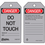 """Danger Do Not Touch"" Safety Tag"