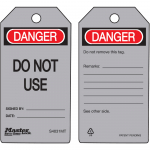 """Danger Do Not Use"" - Metal Detectable Safety Tag"