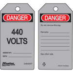 """Danger 440 Volts"" - Metal Detectable Safety Tag"