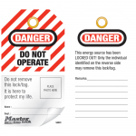 """Danger Do Not Operate"" English Photo ID Safety Tag"