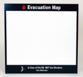 """Evacuation Map In Case Of Fire"" Sign"